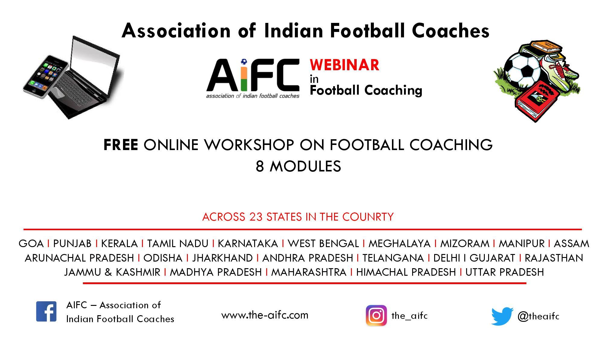 #AIFCWebinar in football coaching during pandemic – Photos