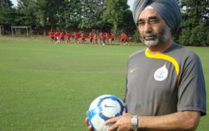 Coach Sukhvinder Singh conferred with the Dhyan Chand Award